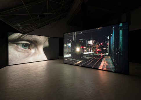 Douglas Gordon, K.364, A Journey by Train, 2010, video installation, variable dimensions