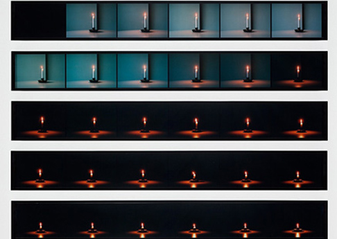 Jonathan Monk, Candle Photographs, 2009, Series of six c-prints