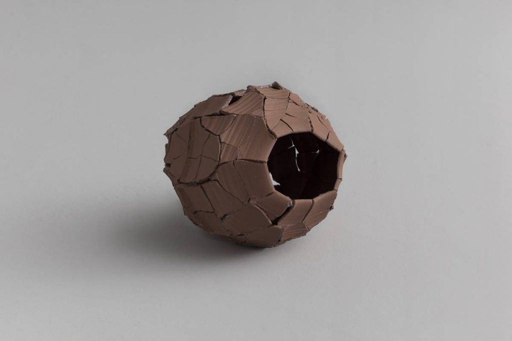 Ariel Schlesinger, Untitled (Inside Out Urn), 2013, Earthenware terracotta, 32x38x33 cm