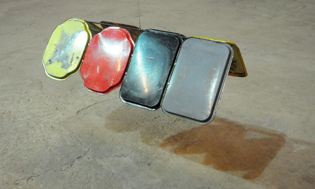 """Miroslaw Balka, """"120x31x62"""", 2010, tinplate, plastic, steel 120 x 31 x 62 cm"""