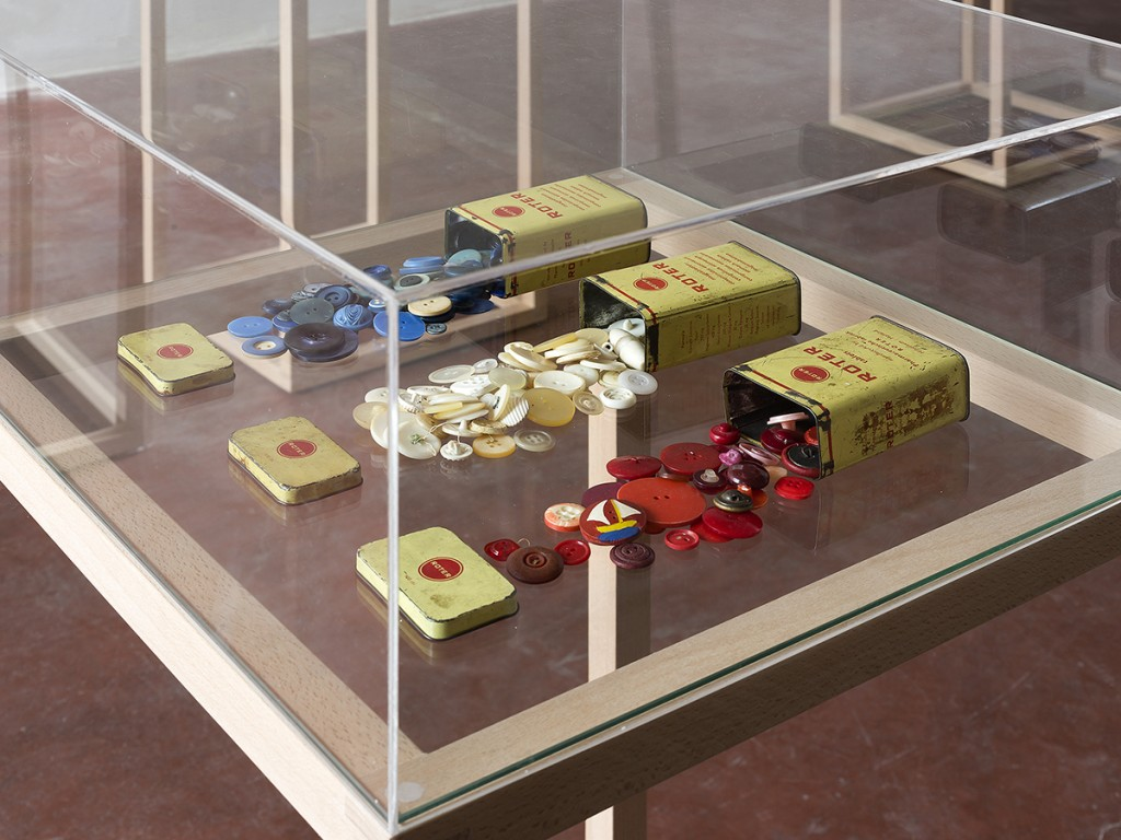 Dor Guez, Detail of Bleu, Blanc, Rouge, 2014, 7 vitrines and objects, various dimensions