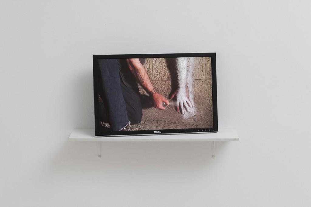 Douglas Gordon, Molotov action, Jerusalem stone, 2012, HD video loop, 4:30 min, edition of 3