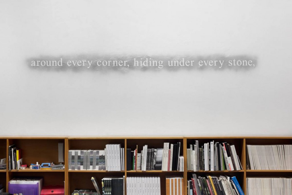 Douglas Gordon, 2012, wall, text, variable dimensions, unique
