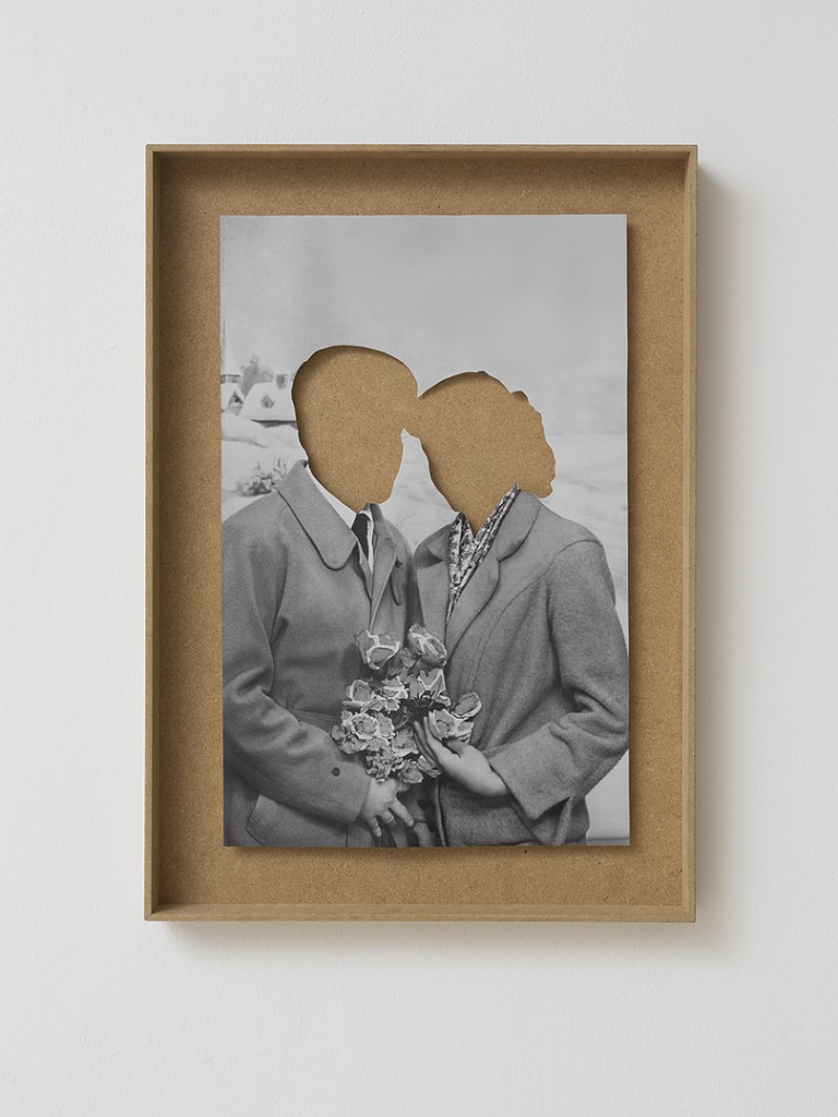 Hans-Peter Feldmann, Liebespaar, mixed media, 40 x 60 x 5 cm