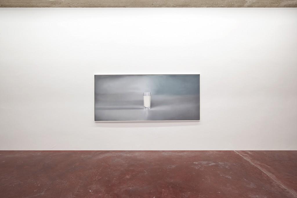 Simon Fujiwara, Lactose Intolerance (Hyperrealist Style), 2015, acrylic on canvas, 124.5 x 280 x 5 cm, unique
