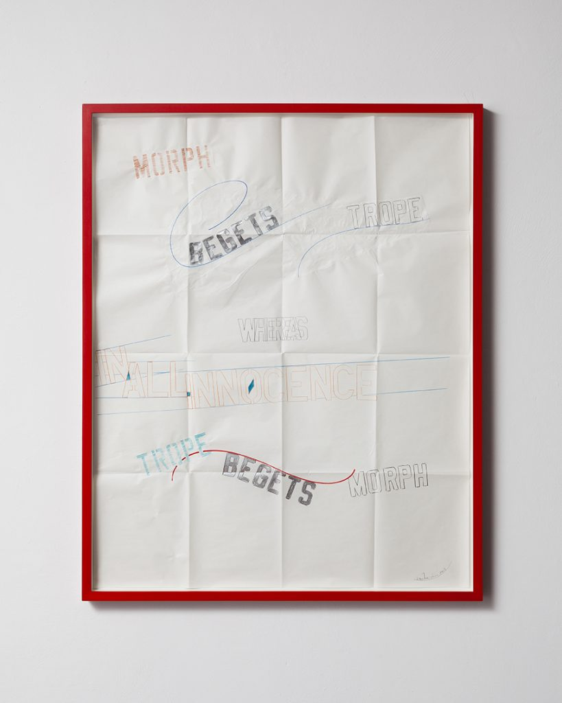 Lawrence Weiner, In all Innocence, 2013, drawing, 85 x 100 x 4 cm, unique