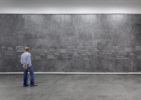 Douglas Gordon, '33 degrees of enlightenment', 2012, text, pencil