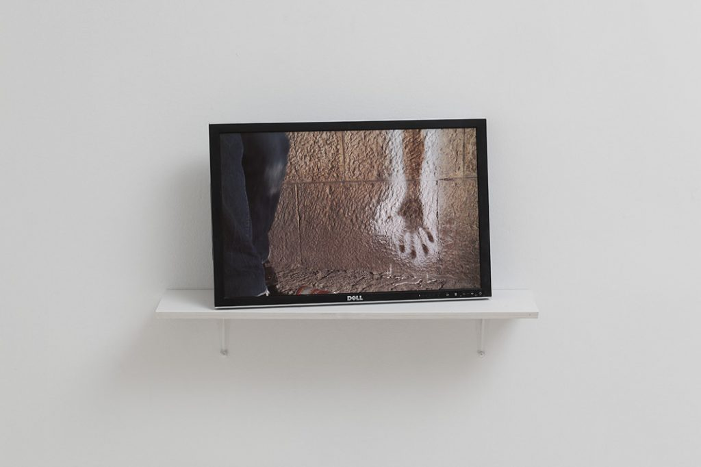Douglas Gordon, Molotov action, Jerusalem stone, 2012, HD video loop 4:30 min, edition of 3 + 2 AP