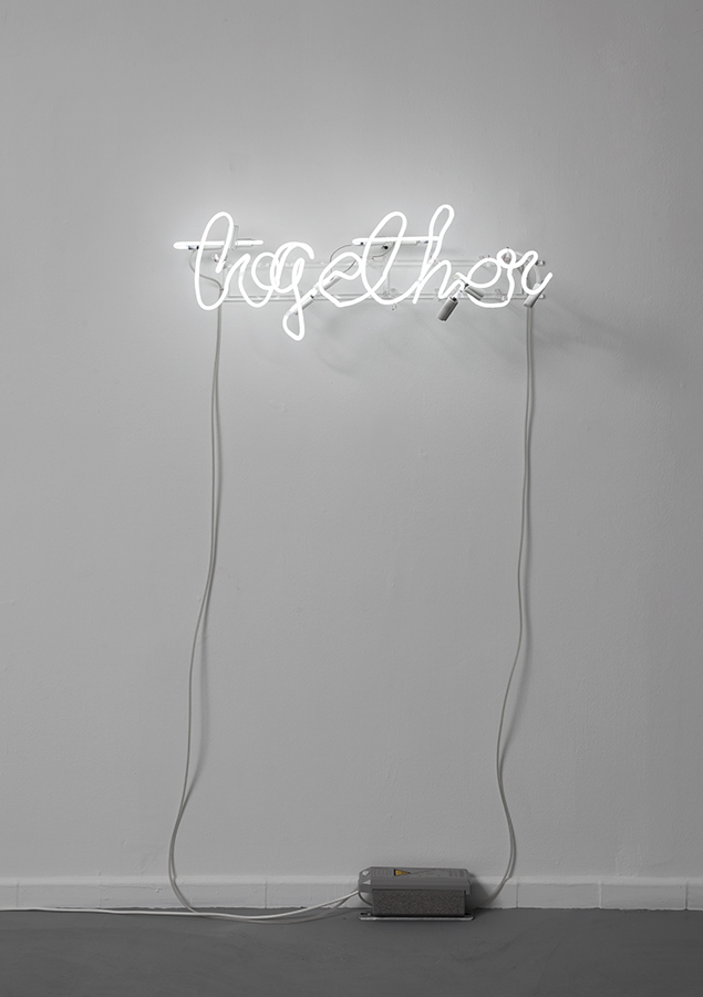 Miri Segal, Together, 2013, neon, 92 x 28 x 40 cm