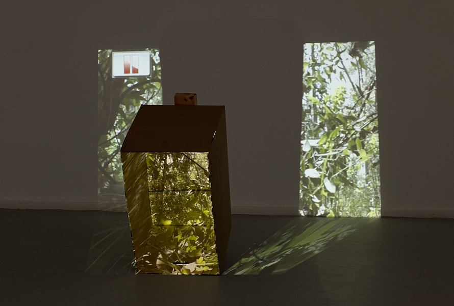 Miri Segal, Untitled, 2011, Video projection, cardboard box, dimension variable, edition of 5