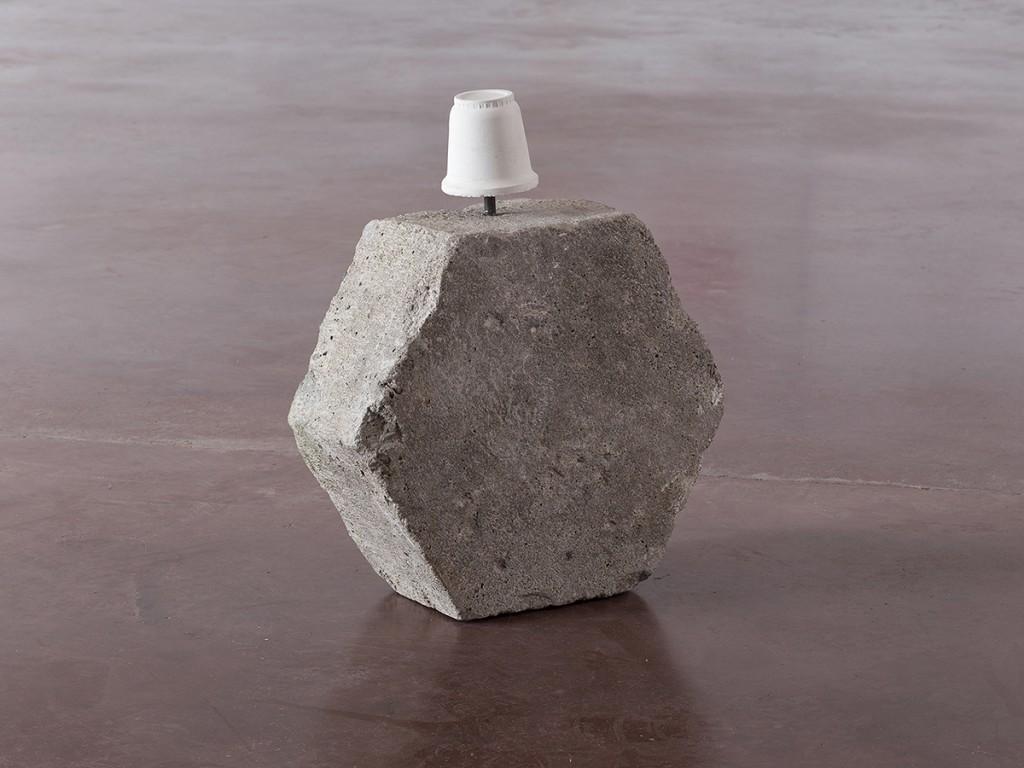 Miroslaw Balka, 47 x 40 x 16, 2014, concrete, steel, 47 x 40 x 16 cm, unique
