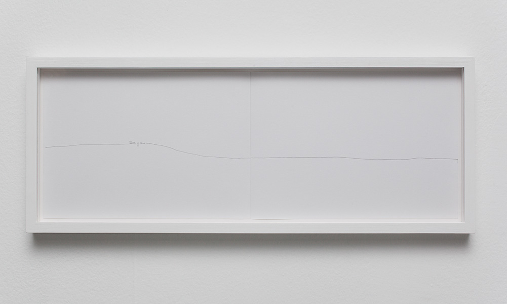 Nelly Agassi, Sea You, 2011, pencil on paper, 21 x 59 cm, unique