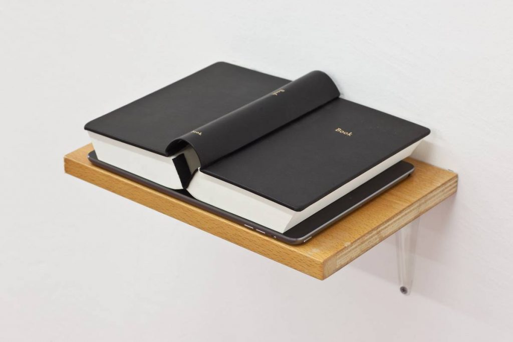 Simon Fujiwara, Book Book, 2014, book, ipad, 18.6 x 24.1 cm, edition of 3