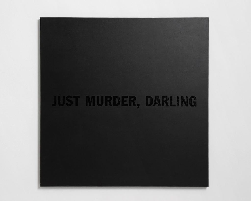 Yossi Breger, Just murder, darling, 2012, acrylic on linen, 115x115 cm