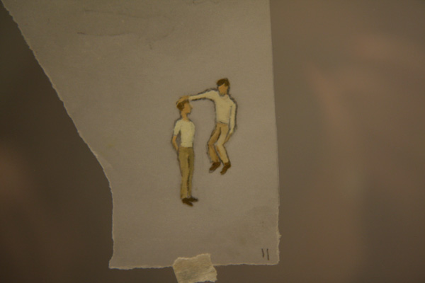 Francis Alÿs, 17 studies for Le Temps du Sommeil, 1995-present, Pencil and oil paint on tracing paper, detail