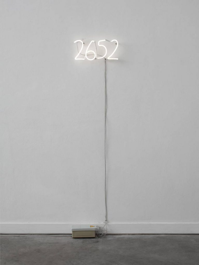 Shilpa Gupta, 2652, 2011, 35.6 x 17.8 cm, Edition of 3