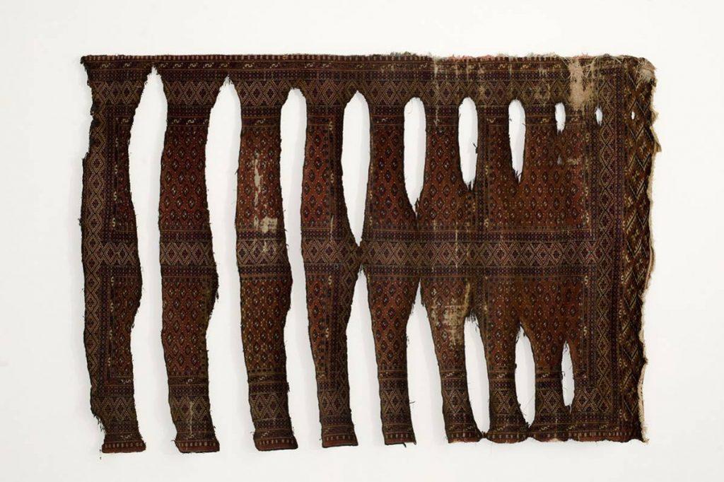 Ariel Schlesinger, Untitled, 2008, carpet, mixed media, unique