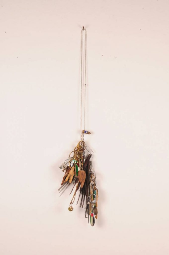 Claire Fontaine, Passe-Partout (Ramallah), 2008, hacksaw blades, bicycle spokes, paper-clips, safety pins, hair pins, allen keys, wire and key-rings