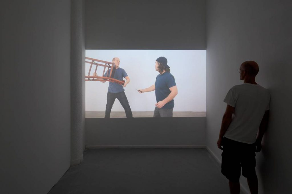"Claire Fontaine, Situations, 2011, single channel HD video for projection, color, sound 32'38"" ,edition of 6 +2AP"