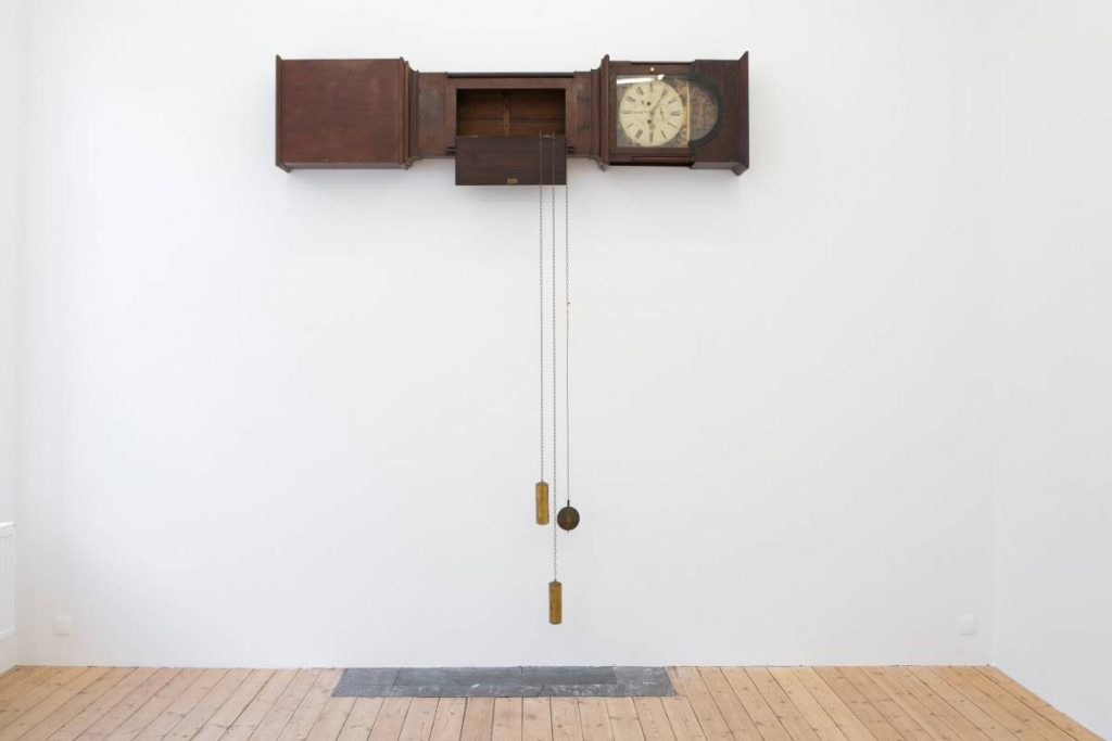 Simon Fujiwara, Untitled (Empire Clock), 2016, Grandfather Clock, 260 x 230 x 25 cm, Unique