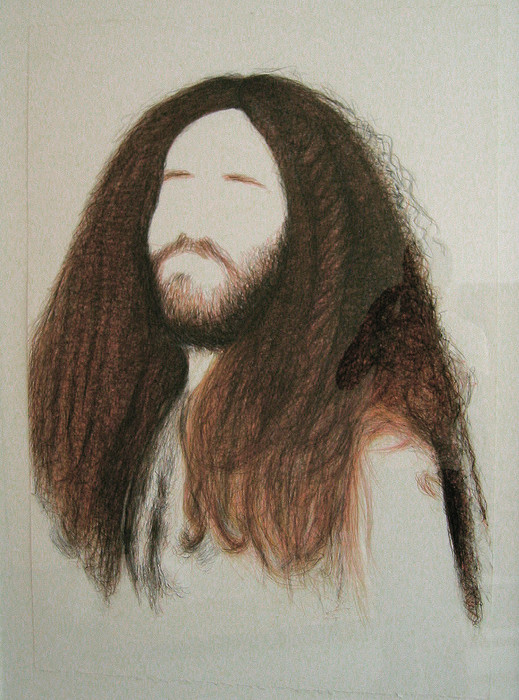 Eli Petel, Hairy man, 2006, crayons on paper, 74 x 106 cm