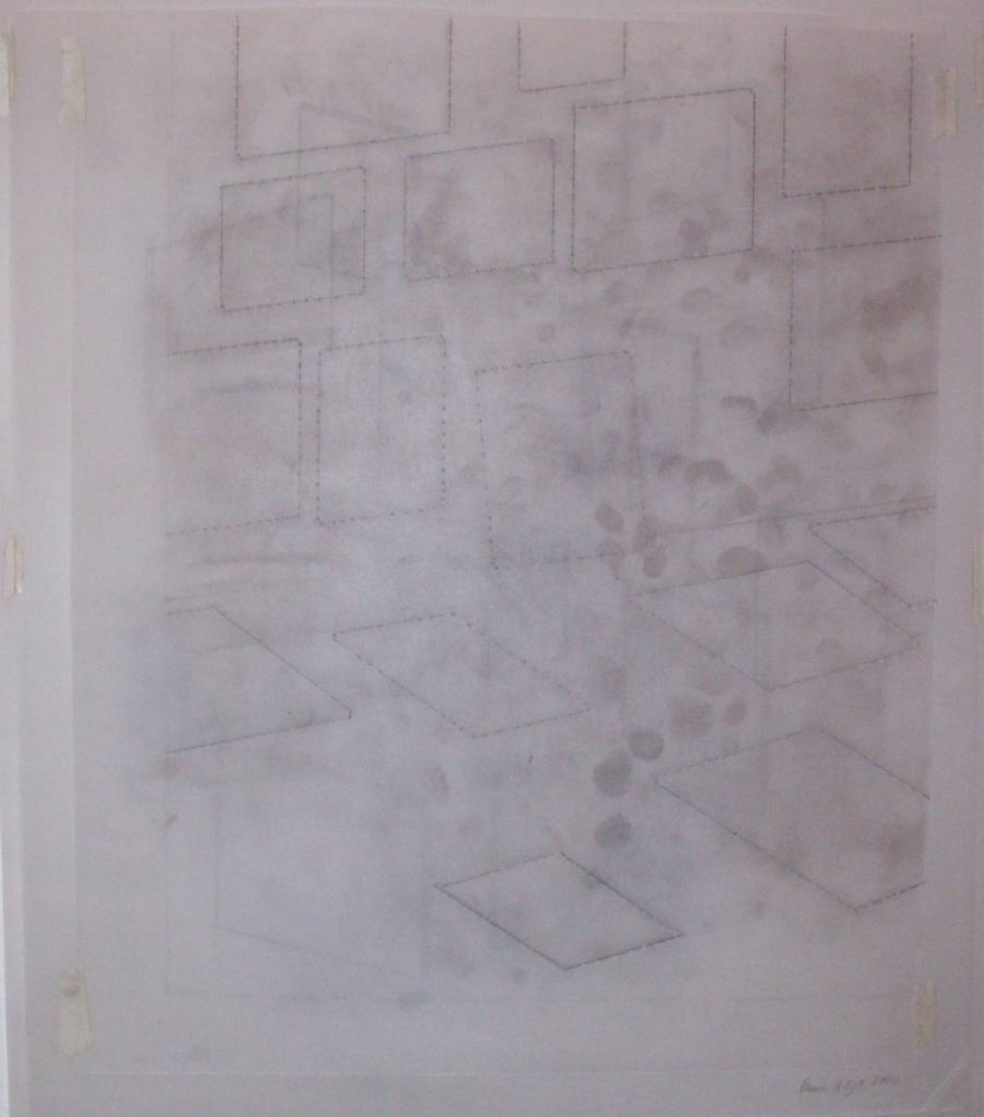 Francis Alys, Untitled, 2000, pencil on paper, 42 x 36 cm