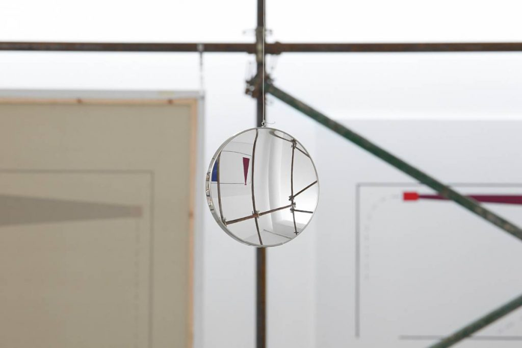 Claire Fontaine, Jungle Gym (Brut), 2011, commerical scaffolding, dimensions variable, edition of 3 + 2 AP