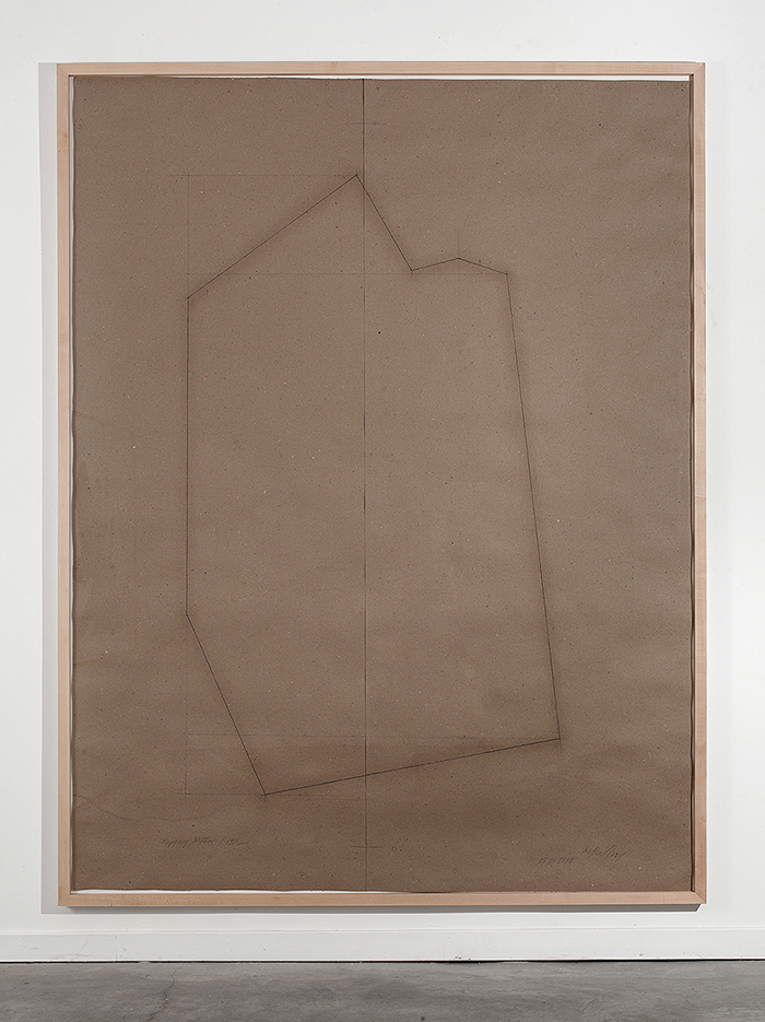 Miroslaw Balka, Mapping B, 2008, Pencil on paper, 250x190 cm