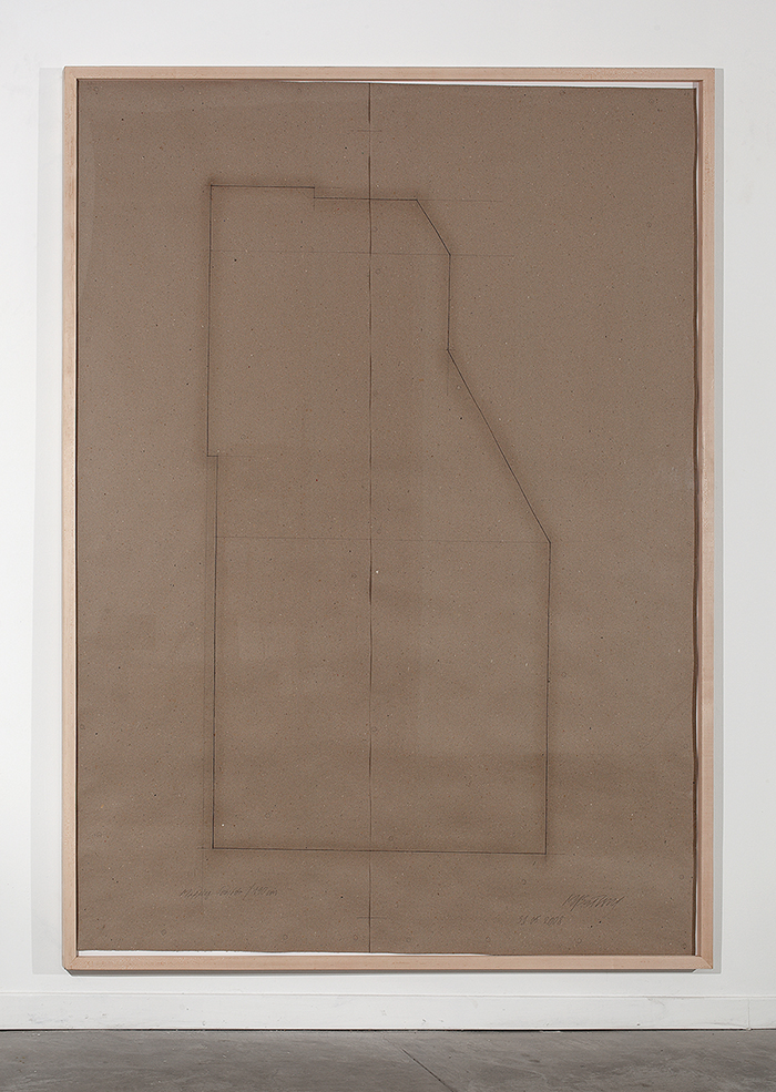 Miroslaw Balka, Mapping S, 2008, Pencil on paper, 250x190 cm