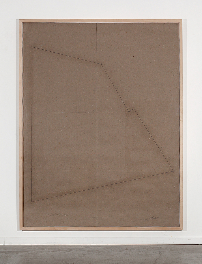 Miroslaw Balka, Mapping T, 2008, Pencil on paper, 250x190 cm
