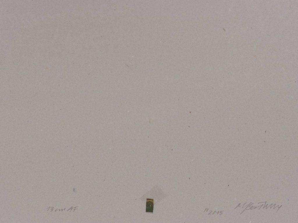 Miroslaw Balka, 13 cm AF, 2015, pencil, myrth, frankincense on cardboard, 208 x 78 x 4 cm.