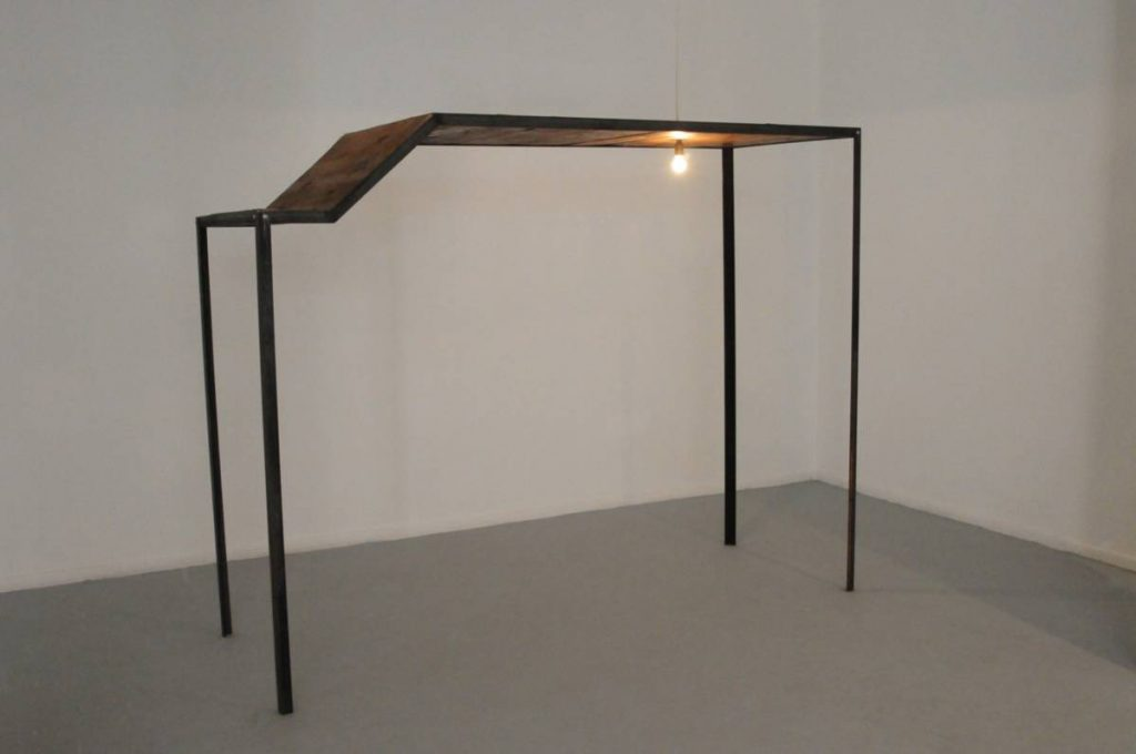 "Miroslaw Balka, ""255x200x91"", 2009, steel, wood, 255 x 200 x 91 cm"