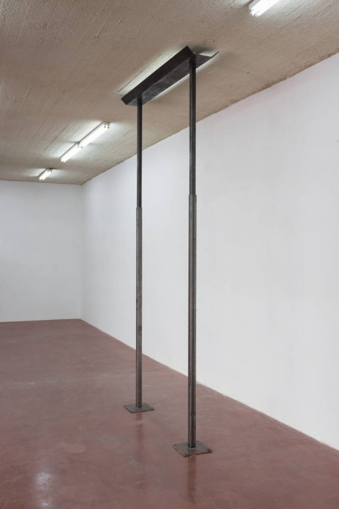 Miroslaw Balka, 390 x 190 x 40  Light Holder, 2015 , steel, 390 x 190 x 40 cm