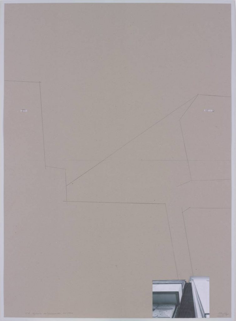 Miroslaw Balka, H/R Wybrzeze Kosciuszkowskie Warszawa, 2015, pencil on carboard, 148 x 108 x 4 cm