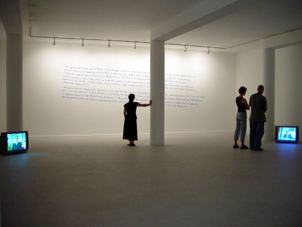 Nedko Solakov, Negotiations, 2003, video installation, edition of 5 + 2 AP