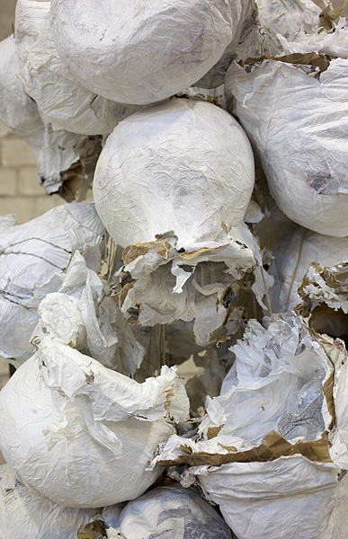 Etti Abergel, Untitled, 2009, sandpaper, masking tape, aluminum foil