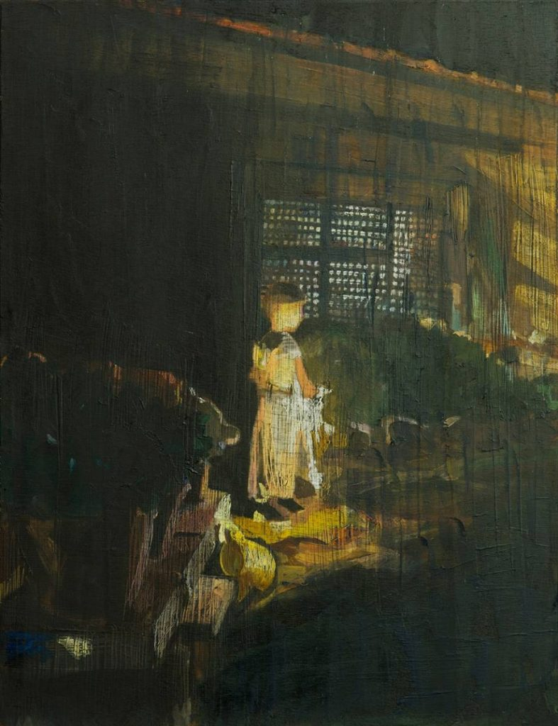 Vered Nachmani, Fireworks 2, 2013, oil on wood, 43.5 x 33.5 cm