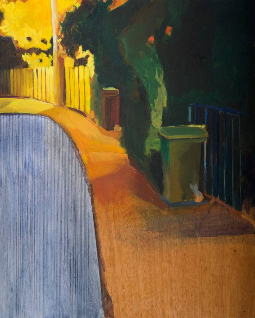 Vered Nachmani, Night, oil on wood, 2014, 53.5x43.5 cm