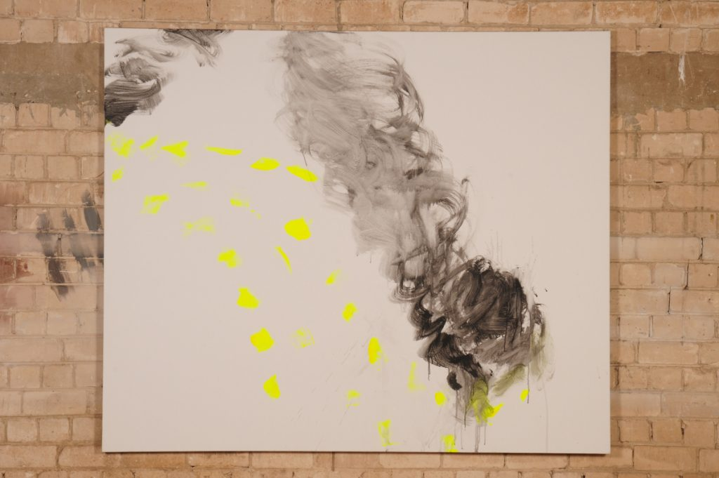 Yudith Levin, White phosphorus 11, 2010, acrylic on canvas