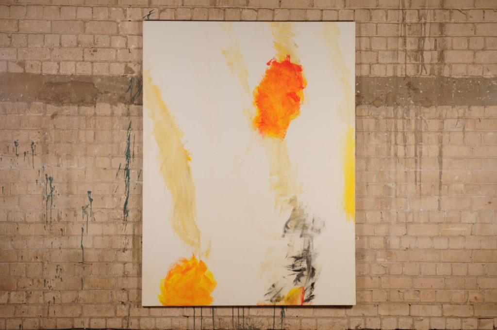 Yudith Levin, White phosphorus 4, 2010, acrylic on canvas