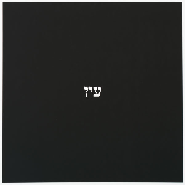 Yossi Breger, Word #44, 2016, Archival inkjet print, Edition of 3 +1AP, 52 x 52 x 2 cm