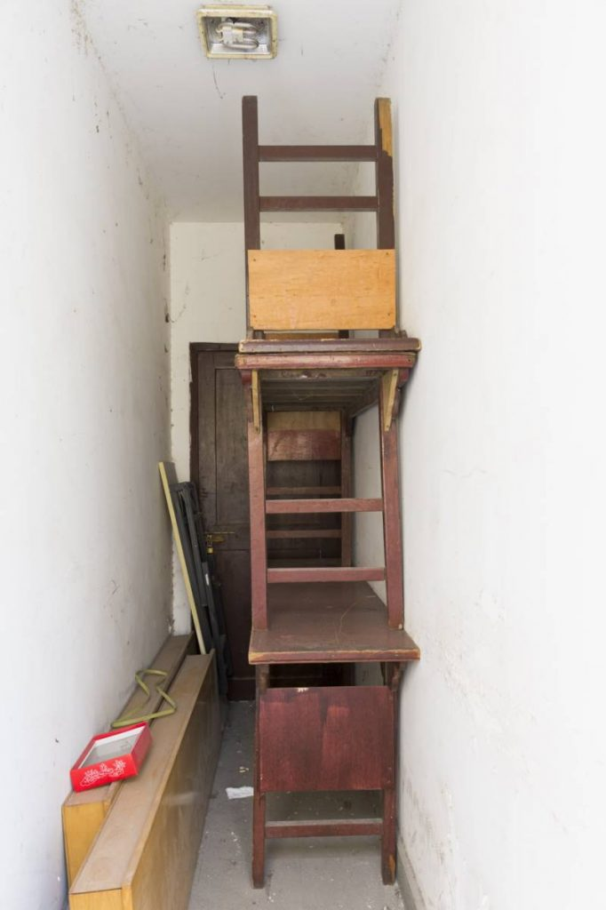Yossi Breger, Corridor with Door & Three Tables, Shanghai, 2013, 32.9 × 24.1 cm