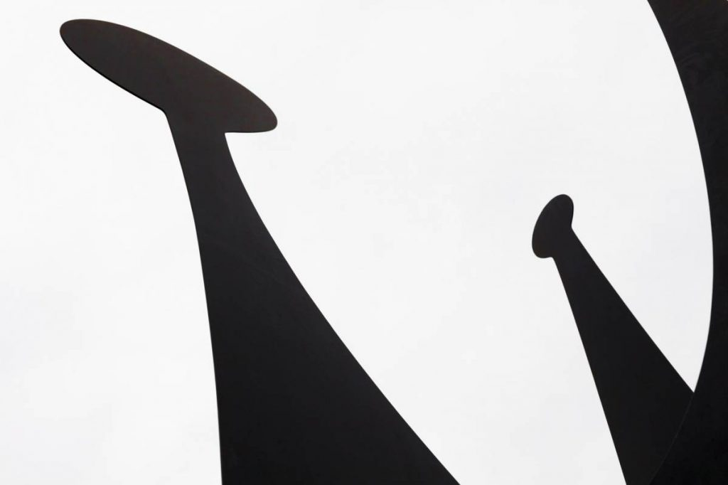 Yossi Breger, Figures (detail from Heads & Tail, Alexander Calder, 1966), Neue Nationalgalerie, Berlin, 2011, 43.2 × 55.9 cm