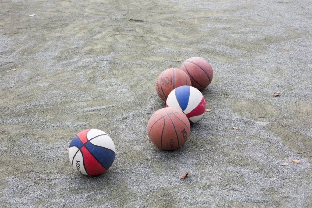 Yossi Breger, Five Basketballs, Tokyo, 2012, color photograph, 24.1x32.9 cm, edition of 5