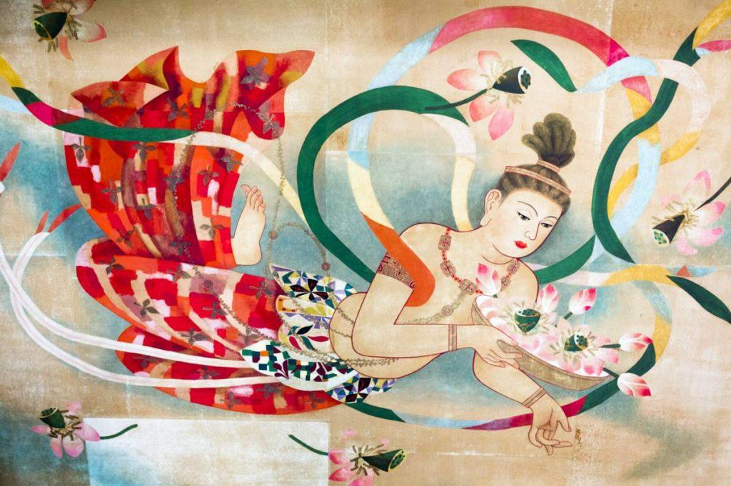 Yossi Breger, Floating Buddha (Ceiling Painting), Sensō-ji Temple, Tokyo, 2012, 43.2 × 55.9 cm
