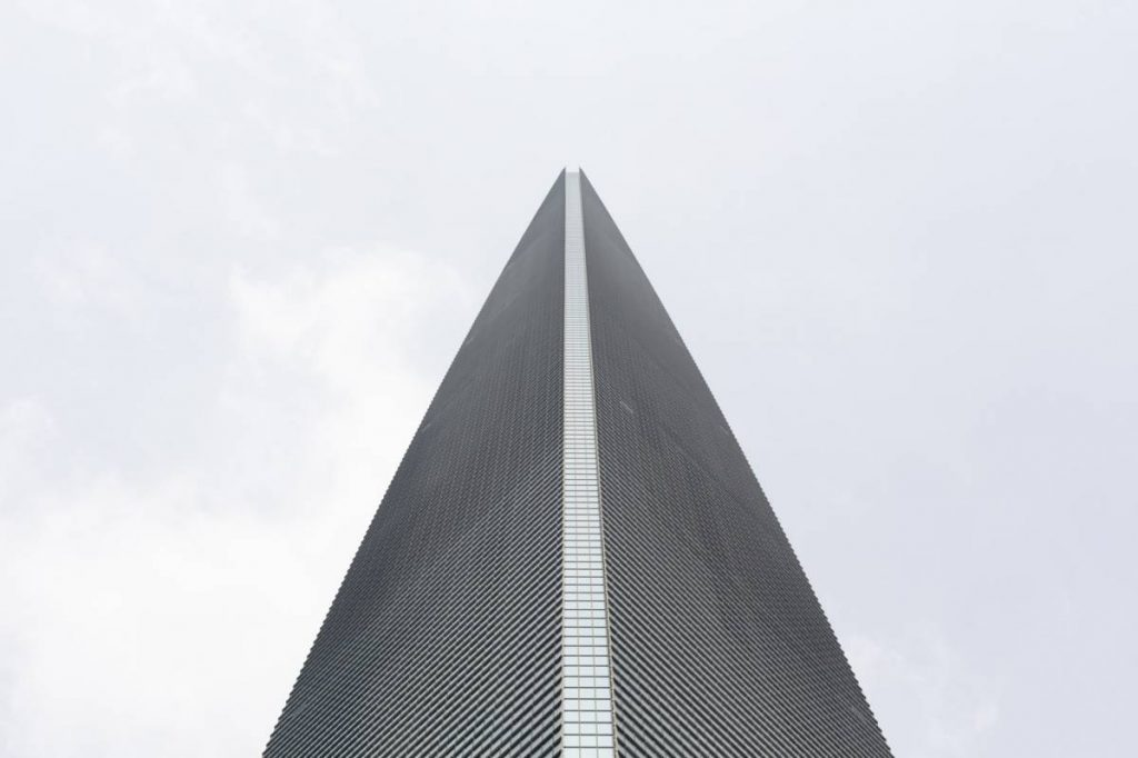 Yossi Breger, Office Tower, World Financial Center, Shanghai, 2013, 43.2 × 55.9  cm