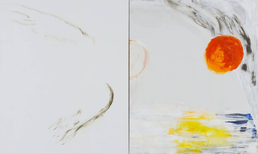Yudith Levin, Icarus, 2015, acrylic on canvas, 180 x 300 cm