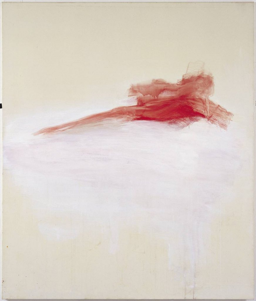 Yudith Levin, Red Pieta, 1997, acrylic on canvas, 200 x 170 cm