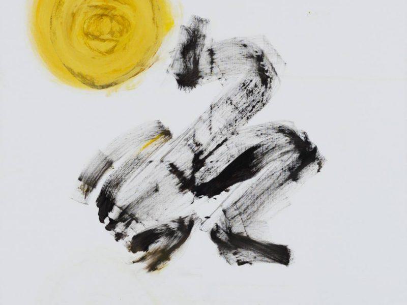 Yudith Levin, Sacrificial Lamb, 2015, acrylic on canvas, 170 x 150 cm