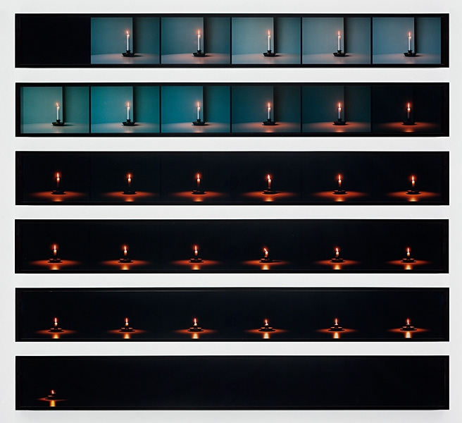 jMonk Candle Photographs, 2009, 6 sets composed of 6 c-prints,16.5 x 130 cm, edition of 2